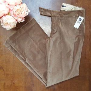 Gap, Velvet Modern Fit Flare Pants, Tan, 4R